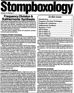 stompboxology frequency division & subharmonic synthesis